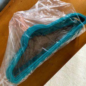 LIKE NEW! 15 Teal & Copper Velvet Hangers